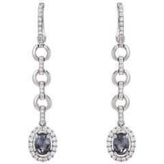 Alexandrite Earrings 1.12 Carats Total GIA Certified
