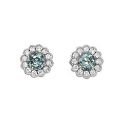 Alexandrite Earrings Studs 0.92 Carats Total
