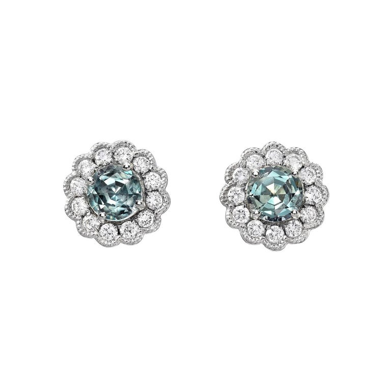 Alexandrite Earrings Studs 0.92 Carats Total For Sale