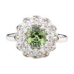 Alexandrite Ring with Diamonds is Rare Even Among Alexandrite Rings