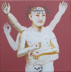 Small Christ 4 - 21st Century, Contemporary Art, Painting, Figurative, Skull