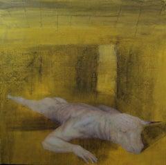 Sulphur - 21st Century, Yellow, Minotaur, Figurative Art, Myth, Contemporary