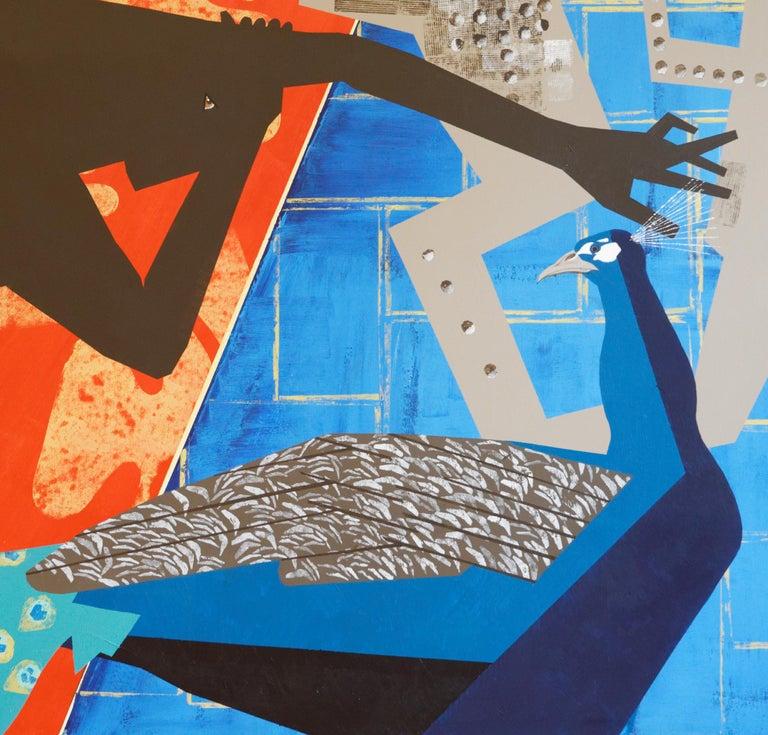 The Rite of Spring 2 - Contemporary, Peacock, Orange, Blue, Nude, Figurative Art For Sale 2