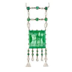 Alexey Denisov-Uralsky Signed Russian Ural Emerald Pendant