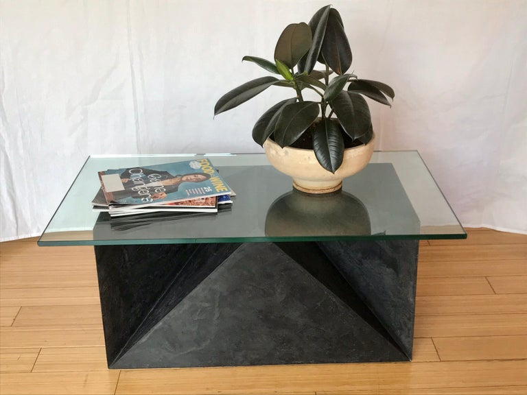 Hand-Painted Alexey Krupinin Geometric Coffee or Console Table, 2020 For Sale