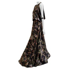Alexis Angia Floral Maxi Dress in Black - Size S