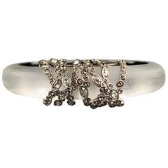 ALEXIS BITTAR Clear Lucite Silver Rhinestones Bracelet