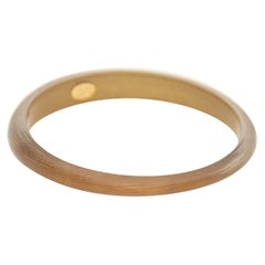 Alexis Bittar Gold Lucite Tapered Bangle