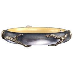 ALEXIS BITTAR Grey Lucite Rhinestones Bracelet