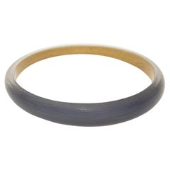 Alexis Bittar Navy Lucite Tapered Bangle