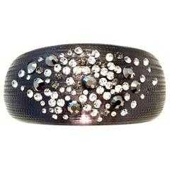 Alexis Bittar Lucite & Swarovski Crystal Bangle Bracelet