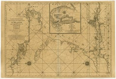 Sea chart of Galway Bay and Limerick river in Ireland - Engraving - 18th century