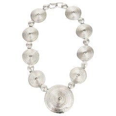 Alexis Kirk Sculptural Disk Necklace 80's