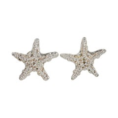 Alexis Lahellec Paris Clip Earrings Silvered Resin Starfish