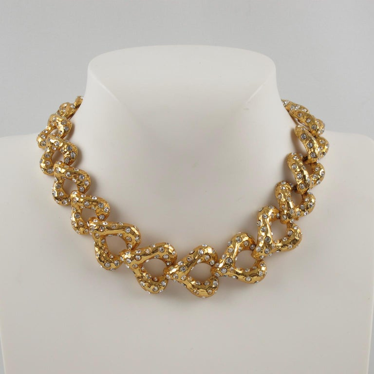 Alexis Lahellec Paris Jeweled Choker Necklace In Good Condition For Sale In Atlanta, GA