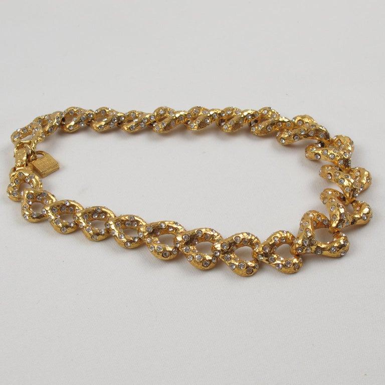 Women's or Men's Alexis Lahellec Paris Jeweled Choker Necklace For Sale