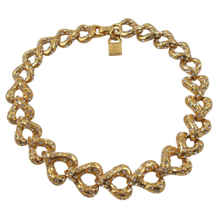 Alexis Lahellec Paris Jeweled Choker Necklace For Sale