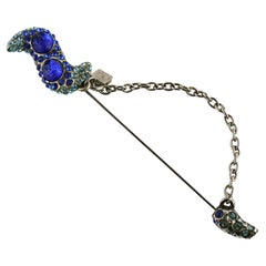 Alexis Lahellec Vintage Oversized Jewelled Pin Brooch