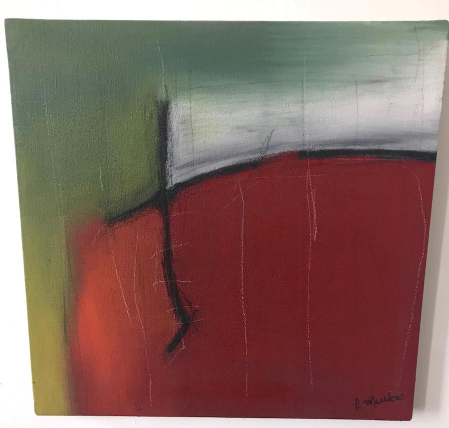 Abstract Painting on Canvas  -- Iroko Roots IX
