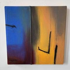 Mixed Media Abstract Painting  -- Iroko Roots V