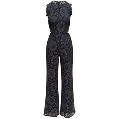 Alexis Navy & Black Lace Sleeveless Jumpsuit