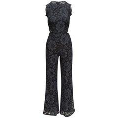 Alexis Navy & Black Lace Sleeveless Jumpsuit