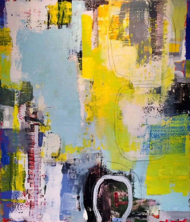 """Alexis Portilla Abstract Painting - 78 x 68 in./ 6ft 6"""" x 5ft 8""""  Large Abstract Oil on Linen"""