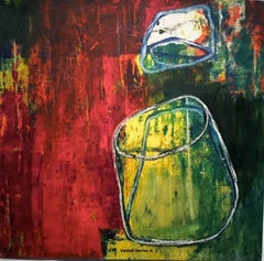 Abstract Oil painting on paper - Vessel Series n. 2