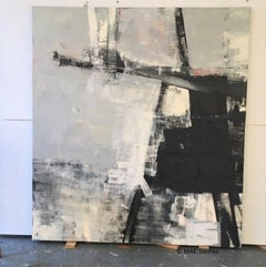 Gorgeous Large Monochromatic Oil on Canvas