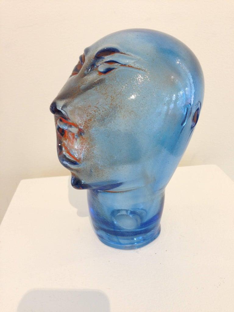 Dream Head #11 - Gray Figurative Sculpture by Alexis Silk