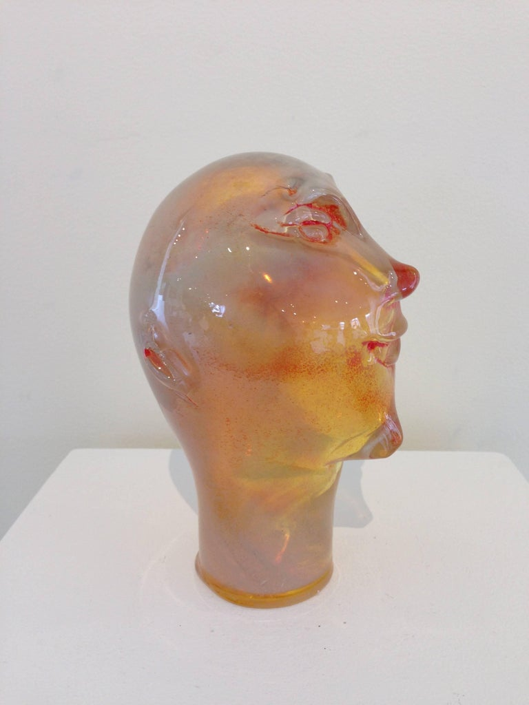 Dream Head #7 - Beige Figurative Sculpture by Alexis Silk