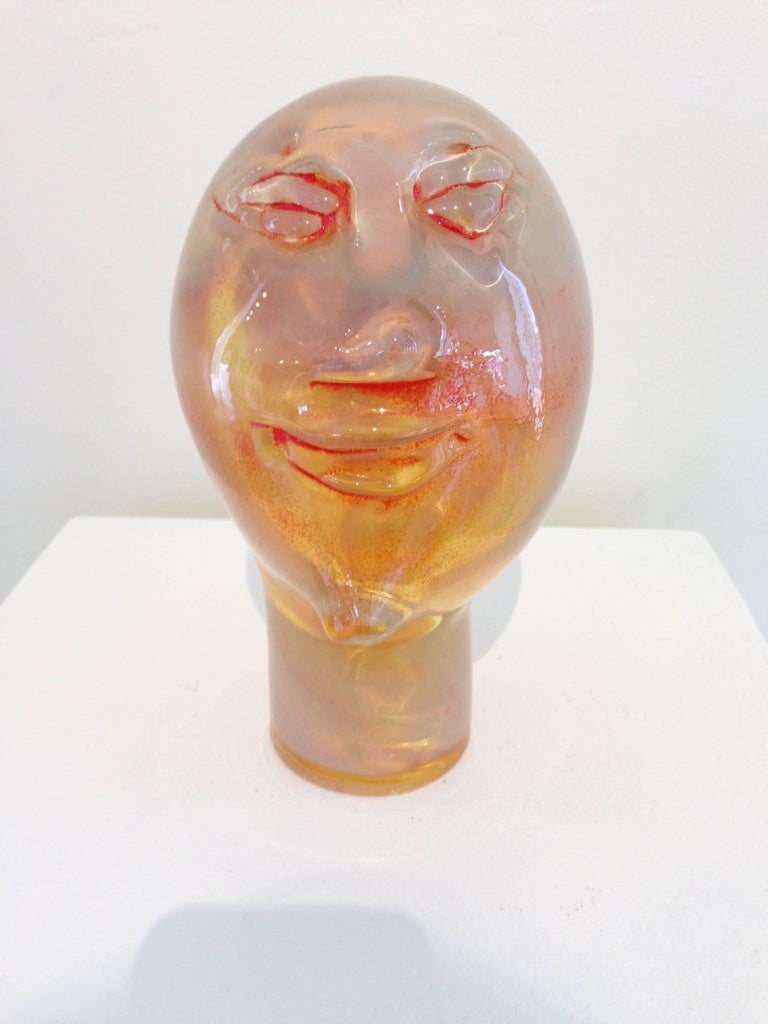 Alexis Silk Figurative Sculpture - Dream Head #7