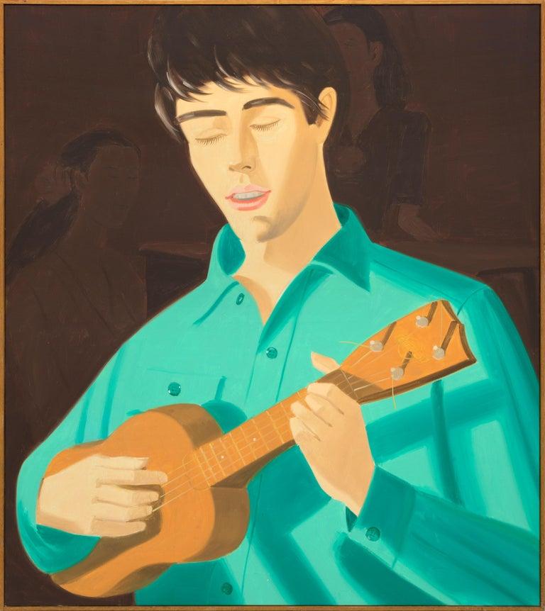Ukulele Player - Painting by Alex Katz