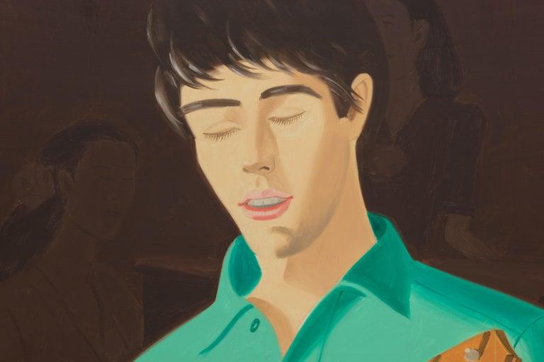 Ukulele Player - Black Portrait Painting by Alex Katz