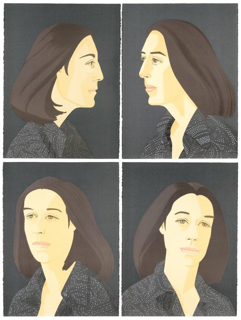 Alex Katz Portrait Print - Ada Four Times