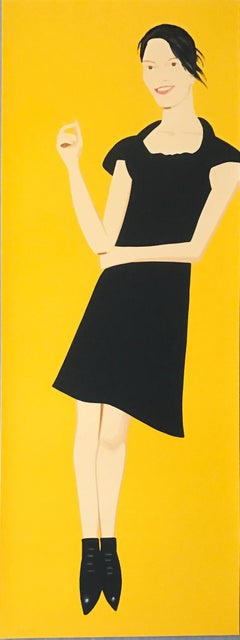 "Alex Katz ""Black Dress 7 (Carmen); 2015; Silkscreen in twenty-eight colors"