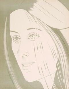 Alex Katz 'Caroline' Lithograph on Arches Paper 1977