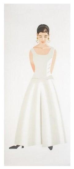 Alex Katz 'Wedding Dress 1993'  Etching and aquatint in colors