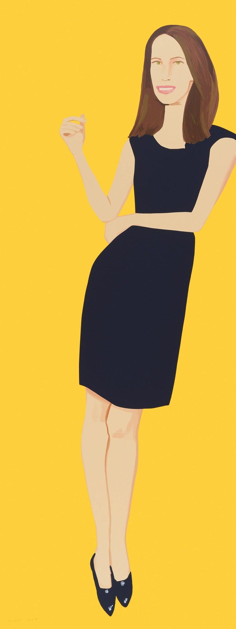 Alex Katz Portrait Print - Black Dress - Christy