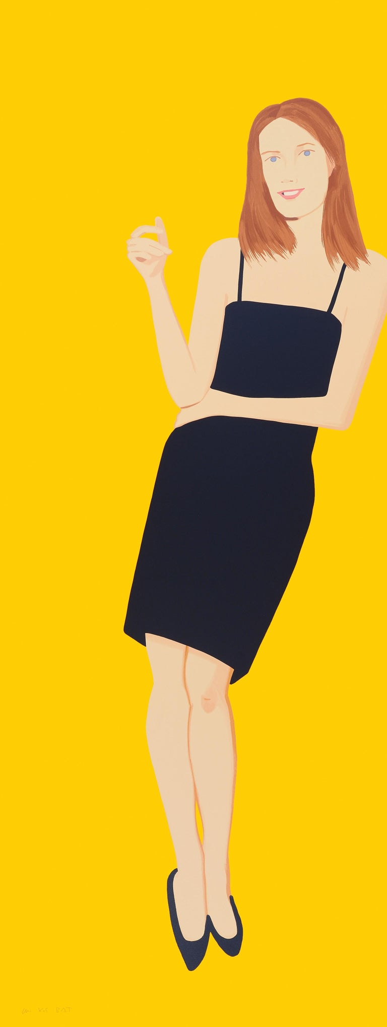 Alex Katz Portrait Print - Black Dress - Sharon