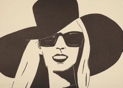 Black Hat (Nicole) - 21st Century, Alex Katz, Contemporary Portrait Print, Woman