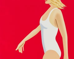 Coca-Cola Girl 1 - 21st Century, Contemporary, Alex Katz, Swim Suit, Woman, Red