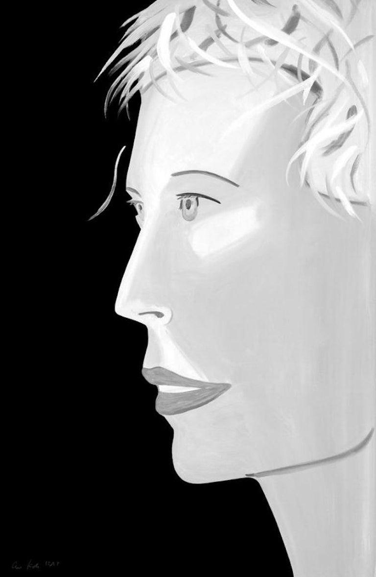 Alex Katz Portrait Print - Coca Cola Girl (black and white)