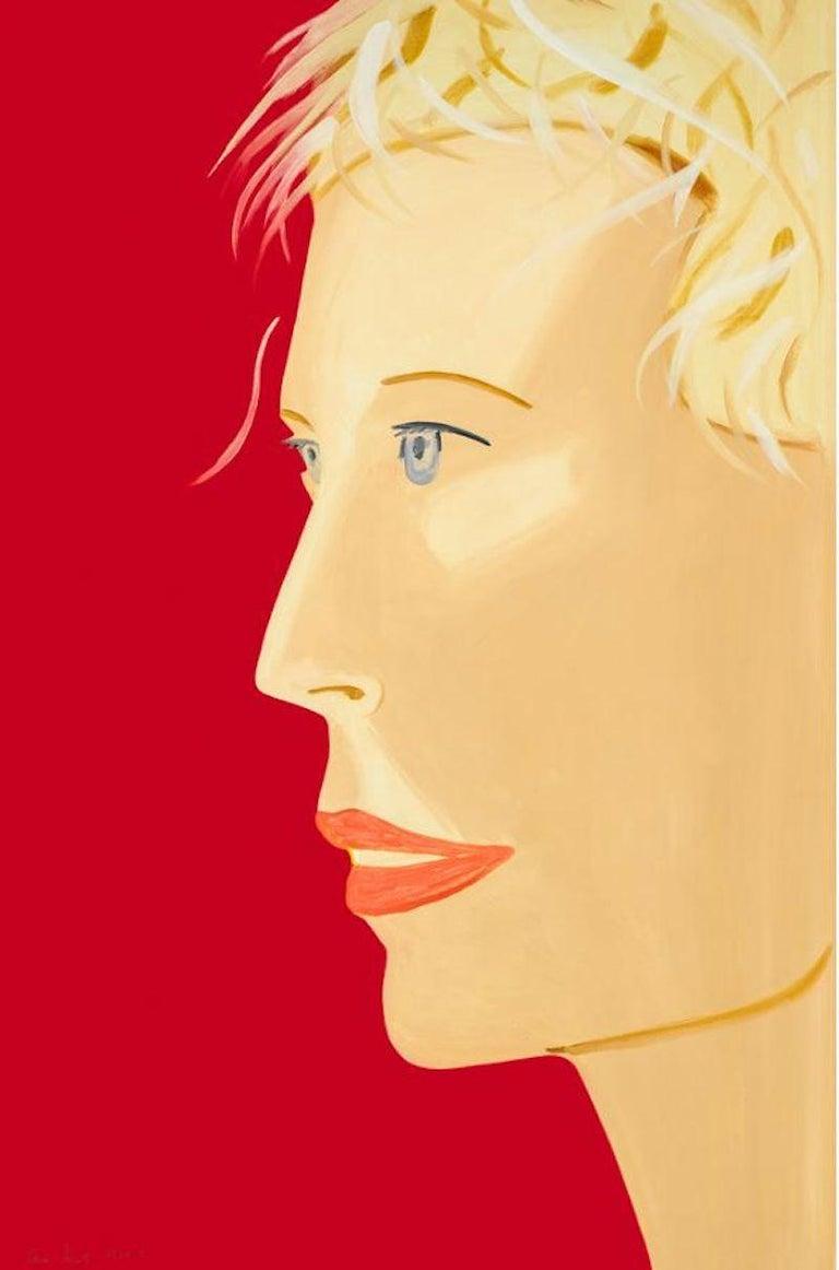 Alex Katz Portrait Print - Coca Cola Girl (red)