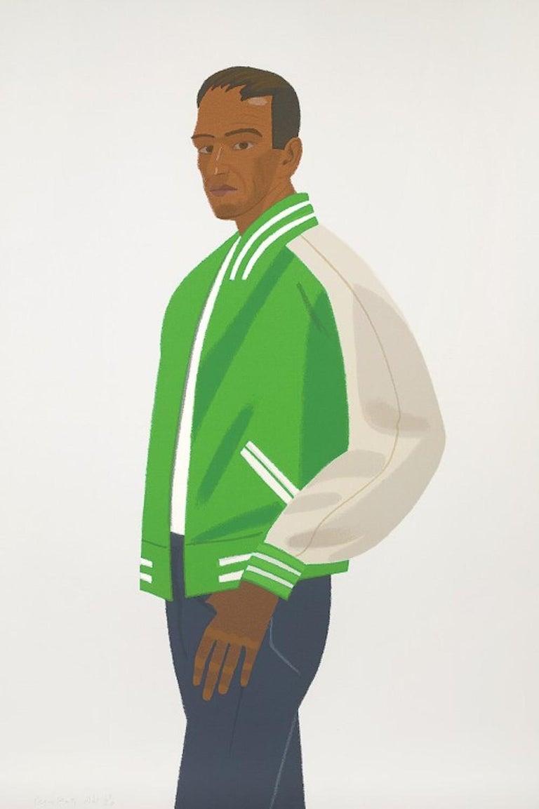 Alex Katz Figurative Print - Green Jacket