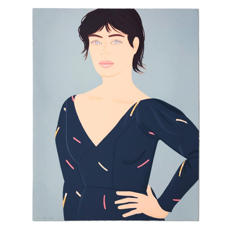 Alex Katz Figurative Print - Grey Dress, 20th Century, American Pop Art, Modern Realism, Contemporary Art