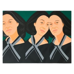 Grey Ribbon (Ada Three Times), Pop Art, Modern Realism, Contemporary Art