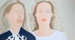 Julia and Alexandra, Screenprint by Alex Katz
