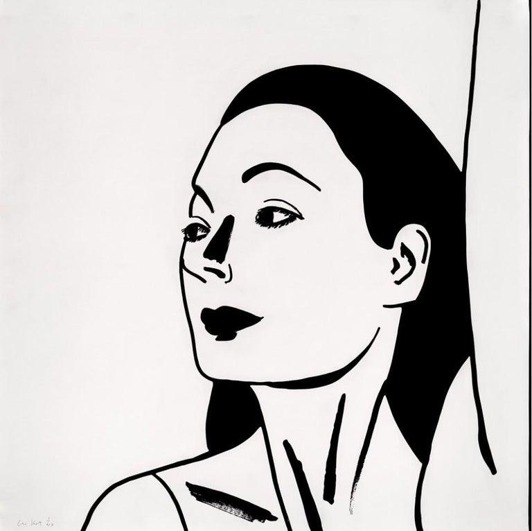 Alex Katz Portrait Print - Laura 2