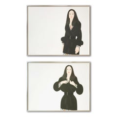 Maria I and II, Set of 2 Aquatints, Framed, Pop Art, Contemporary Art